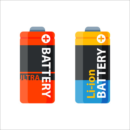 expressing negativity: Battery energy electricity tool vector illustration.