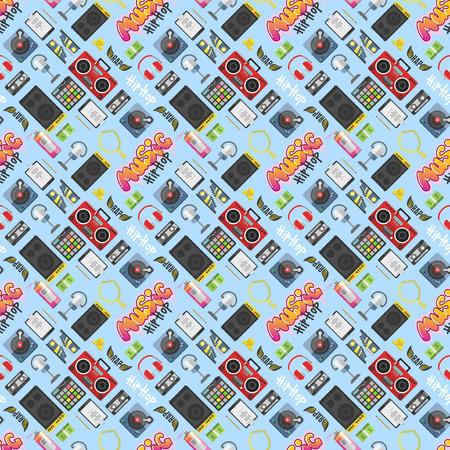 ヒップホップ パターンのベクトルの背景