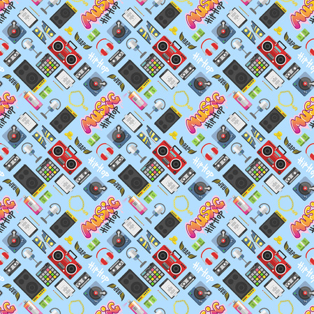 Hip hop pattern vector background