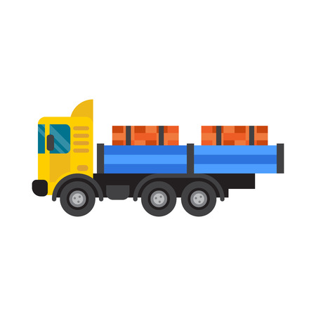 Tipper truck for construction industry vector illustration.