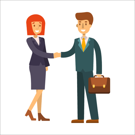 group of young adults: Business people man and woman vector illustration.