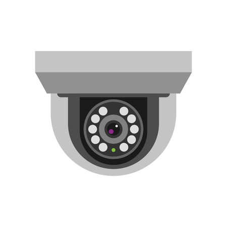 security technology: Security camera safety technology vector.