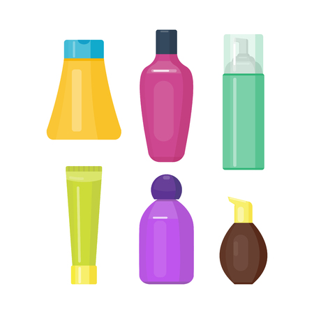 Set of cosmetic tubes isolated vector. Illustration