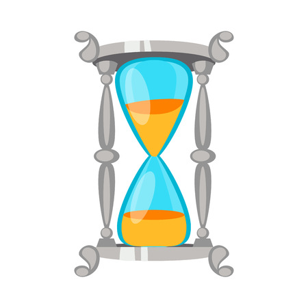 trickle: Sand clock time measurement instrument vector isolated.