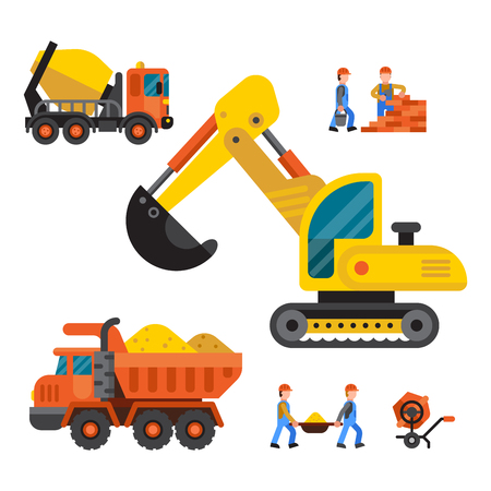 technic: Under construction technic vector illustration Illustration
