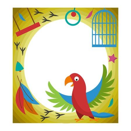 Cute happy birthday border photo frame vector illustration.