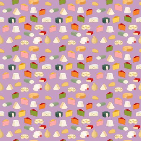 Cheese pattern vector illustration.