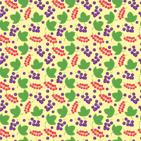 currant: berries currant seamless patterns