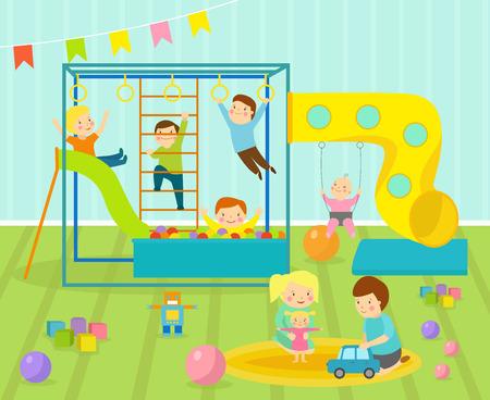 De Juegos De Los Niños Con Muebles De Decoración Ligera Patio De ...