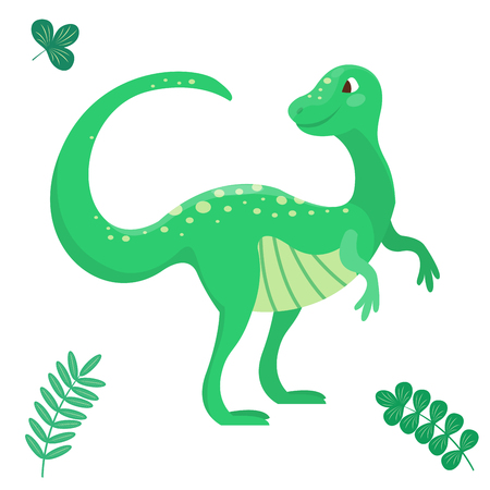 Cartoon dinosaur vector illustration seamless patern monster animal dino prehistoric character reptile predator jurassic comic fantasy dragon Illustration
