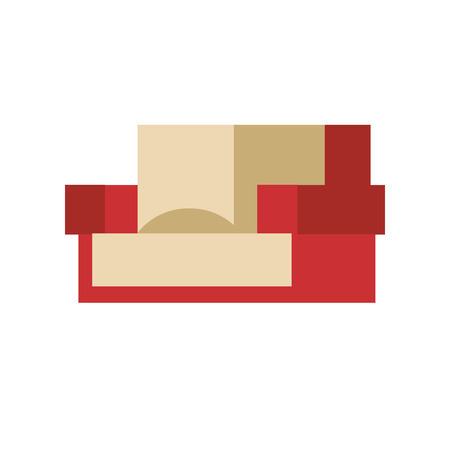 furnish: Sofa isolated vector illustration isolated furniture interior living simple element comfortable indoor home room office house minimalism classic relax Illustration