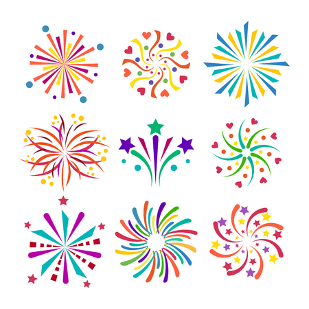Firework vector icon isolated illustration celebration holiday event night.