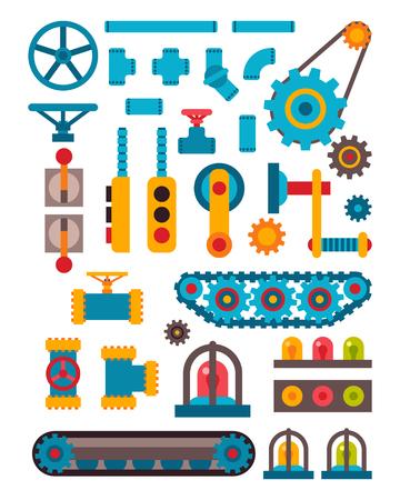 Maschinenteile verschiedene Mechanismus Vektor-Illustration. Vektorgrafik