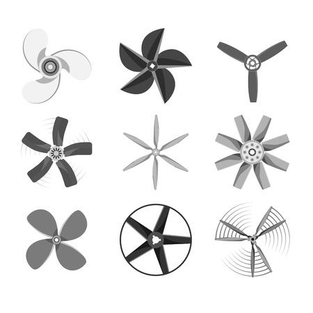 Propeller fan vector illustration fan propeller wind ventilator equipment air icon blower cooler.