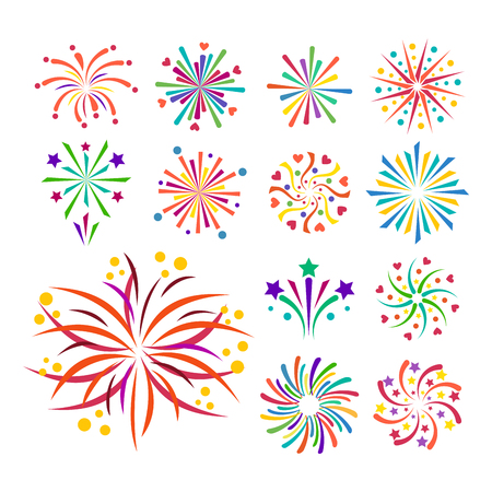 Firework vector icon isolated illustration celebration holiday event night new year fire.