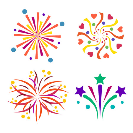 Firework vector icon isolated illustration celebration holiday event night new year