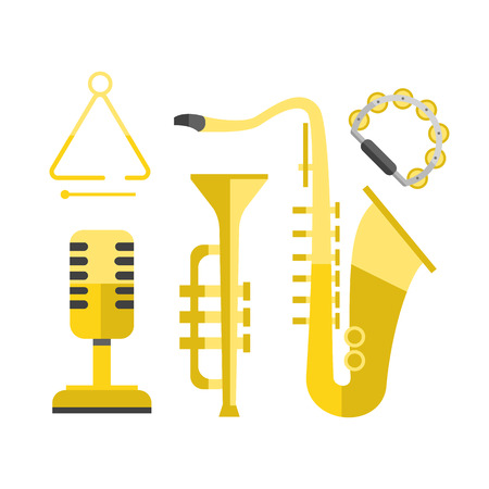 Saxophone gold icon music classical sound instrument vector illustration and brass entertainment golden band design equipment blues musician concert sax. Illustration