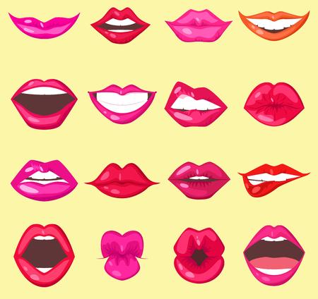Woman lips vector illustration.