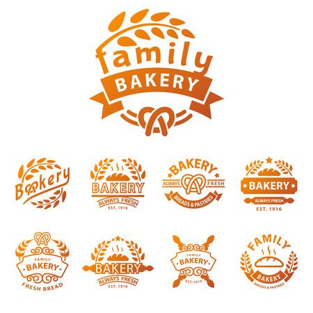 Bakery gold badge icon fashion modern style wheat vector retro food label design element isolated. Illusztráció