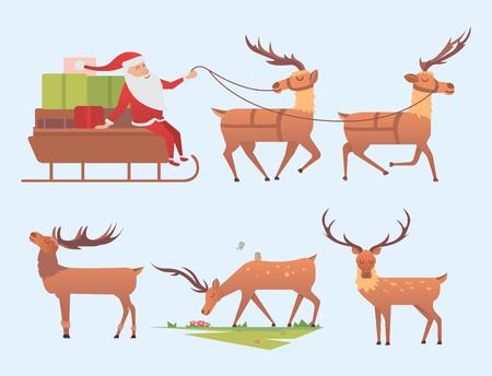 Christmas reindeer holiday mammal deer Xmas celebration cute decoration winter art.