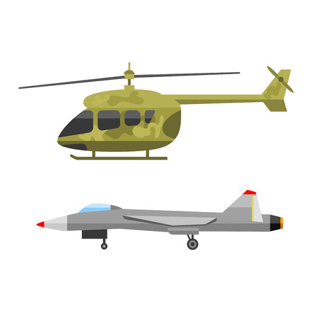 technic: Military technic army war air helicopter transport fighting industry technic armor defense vector collection