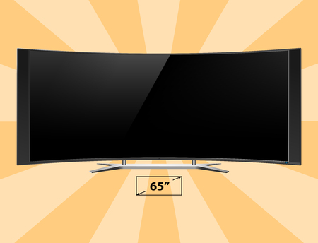 flat screen tv: TV screen lcd monitor template electronic device technology digital device size diagonal display vector illustration. Elegance media panel crystal definition electronic video reflection.