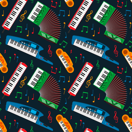 Synthesizer piano musical keyboard equipment pattern.