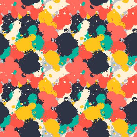 Lnk art brush splash seamless pattern grunge colorful hand drawn spray texture background seamless pattern vector illustration
