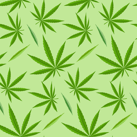 narcotic: Green marijuana background vector illustration seamless pattern marihuana leaf herb narcotic textile