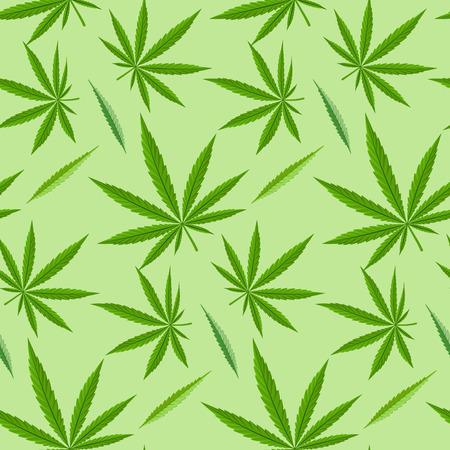 legalize: Green marijuana background vector illustration seamless pattern marihuana leaf herb narcotic textile