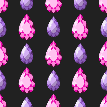 gemstone: Traditional brilliant jewellery seamless pattern diamond luxury fine minute precious gold jewelery vector illustration