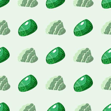 Halfedelbare edelstenen naadloze patroon minerale steen dobbelstenen kleurrijke achtergrond glanzende kristallijne vector illustratie