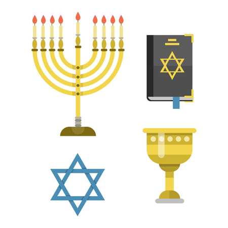 Isolated hanukkah religious synagogue passover hebrew jew vector illustration.
