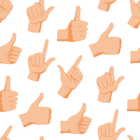 animate: Seamless pattern with various hands gestures dumb background mute inarticulate unlanguaged vector illustration.