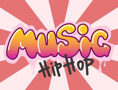 Graffiti vector hip-hop muziek tekst kunst stedelijk ontwerp element straat stijl abstract symbool grafische illustratie