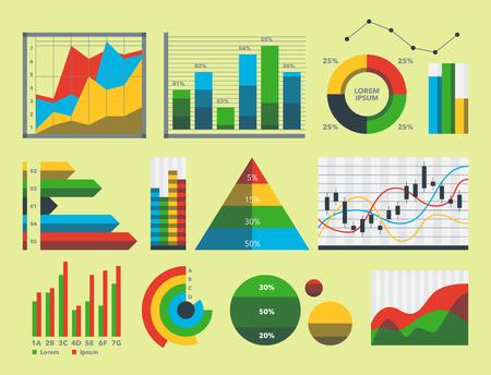 Design diagram chart elements vector illustration of business flow sheet graph infographics data template Stock Photo