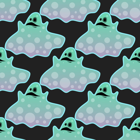 the spectre: Seamless pattern of spooky ghost