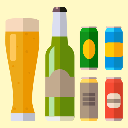 Alcohol beer ale glass vector illustration refreshment brewery and party beverage mug frosty craft drink.