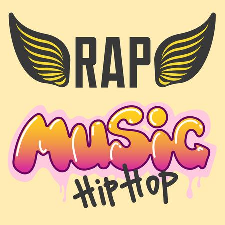 Graffiti vector hip-hop music text art urban design element street style abstract symbol graphic illustration
