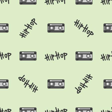 Graffiti vector hip-hop music text art urban design seamless pattern street style abstract symbol graphic illustration