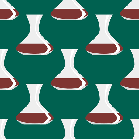 earthenware: Seamless pattern with antique vases background decorative pot design classic pottery container vector illustration.