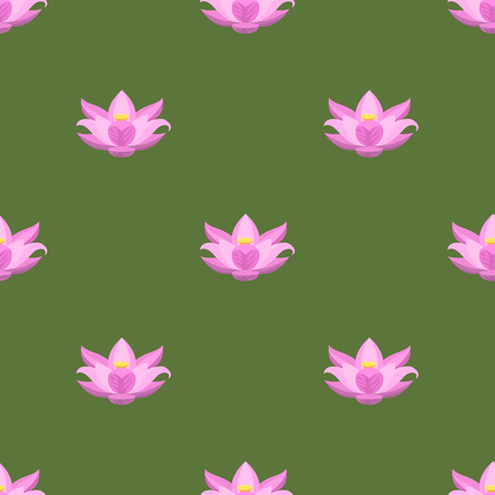 Nature flower illustration, seamless pattern background, floral summer vector