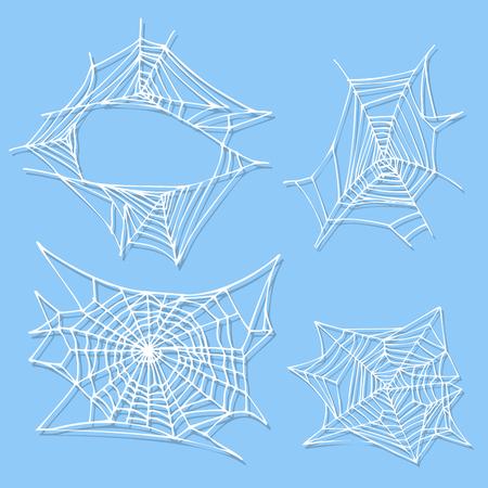 Araignée web silhouette émoticône peur graphique plat animal effrayant nature insecte vecteur piège animal de compagnie icône halloween Banque d'images - 87257020