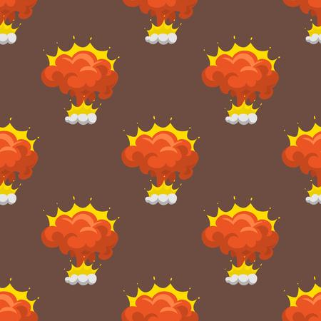 Cartoon explosion boom effect pattern