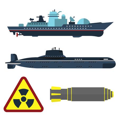 Militärische Armee Kriegsschiff Vektorgrafik