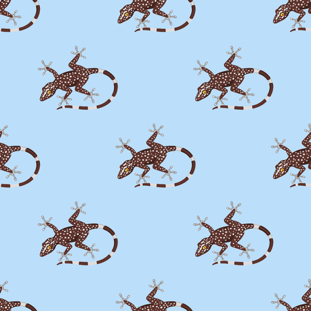 Reptile amphibian seamless pattern colorful fauna vector illustration reptiloid predator reptiles animals.