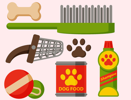 Domestic mammal pedigree canine food and accessory.