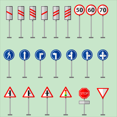road signs and symbols traffic signs graphic elements isolated