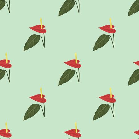 Tropical leaves summer green exotic seamless pattern jungle palm leaf nature plant botanical hawaii flora vector illustration.