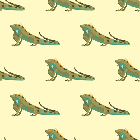 Reptiel van de het patroon reptielen van het kameleon amfibie naadloze patroon kleurrijke reptiloid dieren van reptiloid reptielen vectorillustratie.